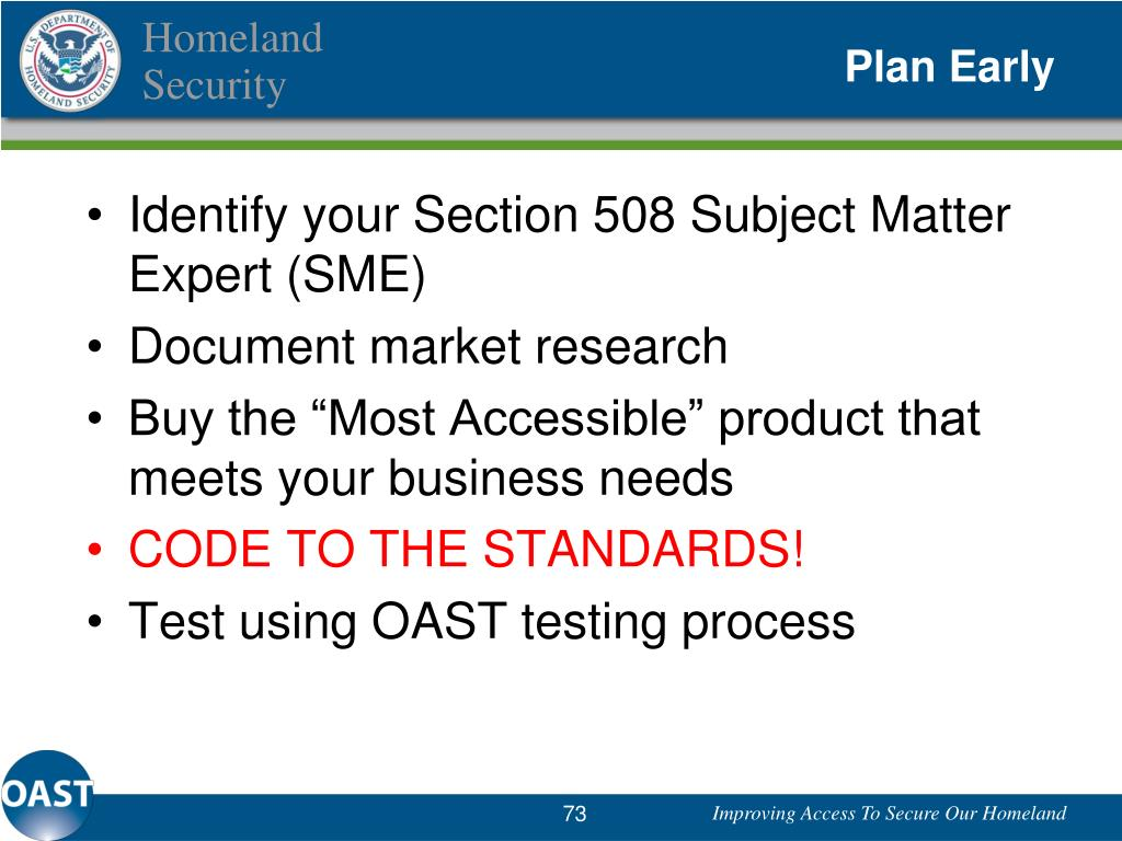 Identify your Section 508 Subject Matter Expert (SME)