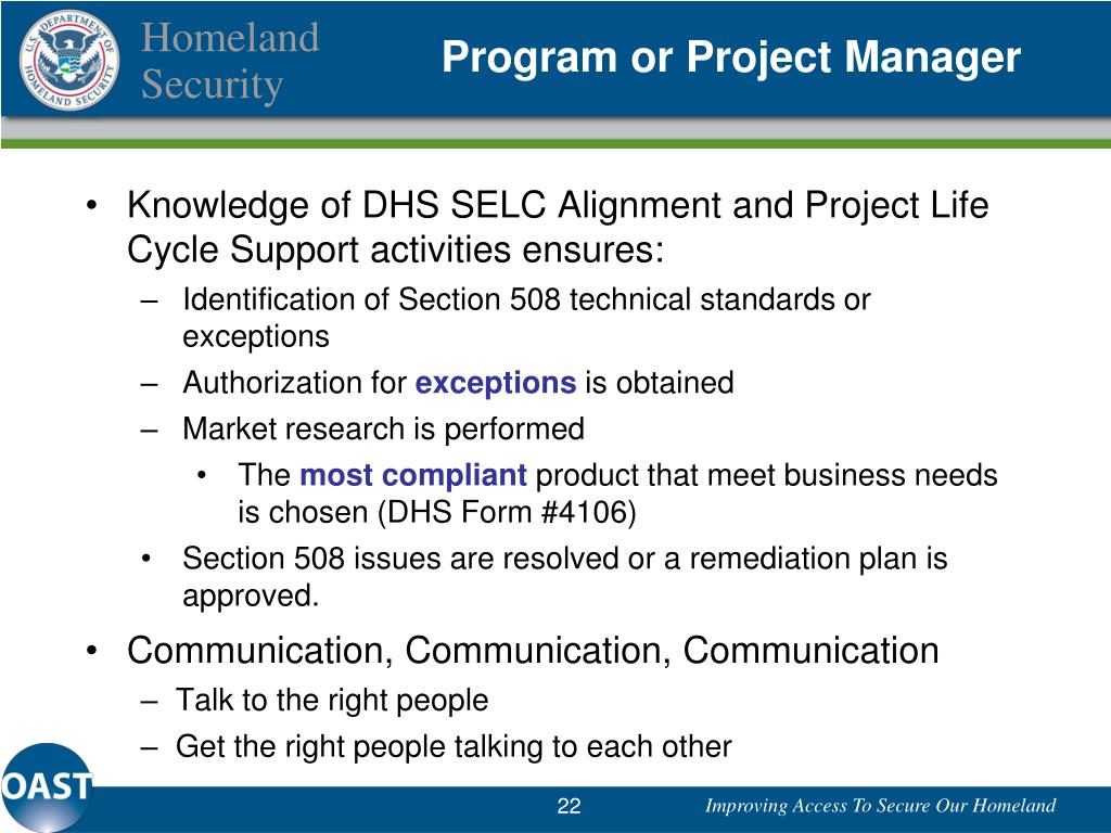 Program or Project Manager