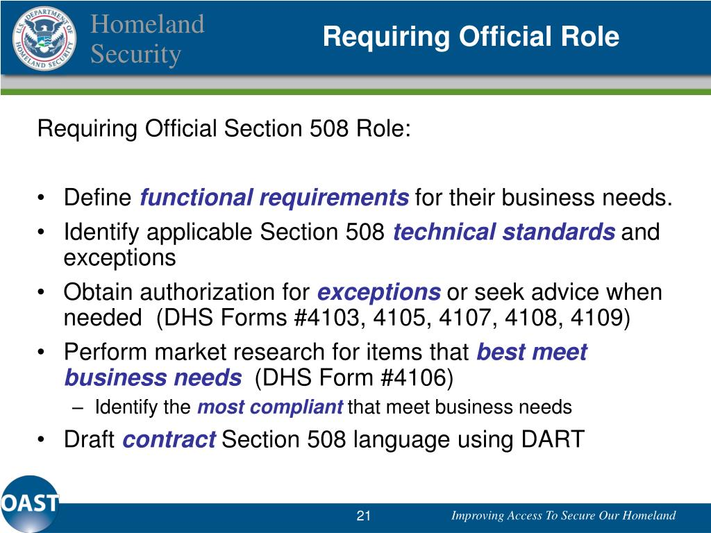 Requiring Official Role