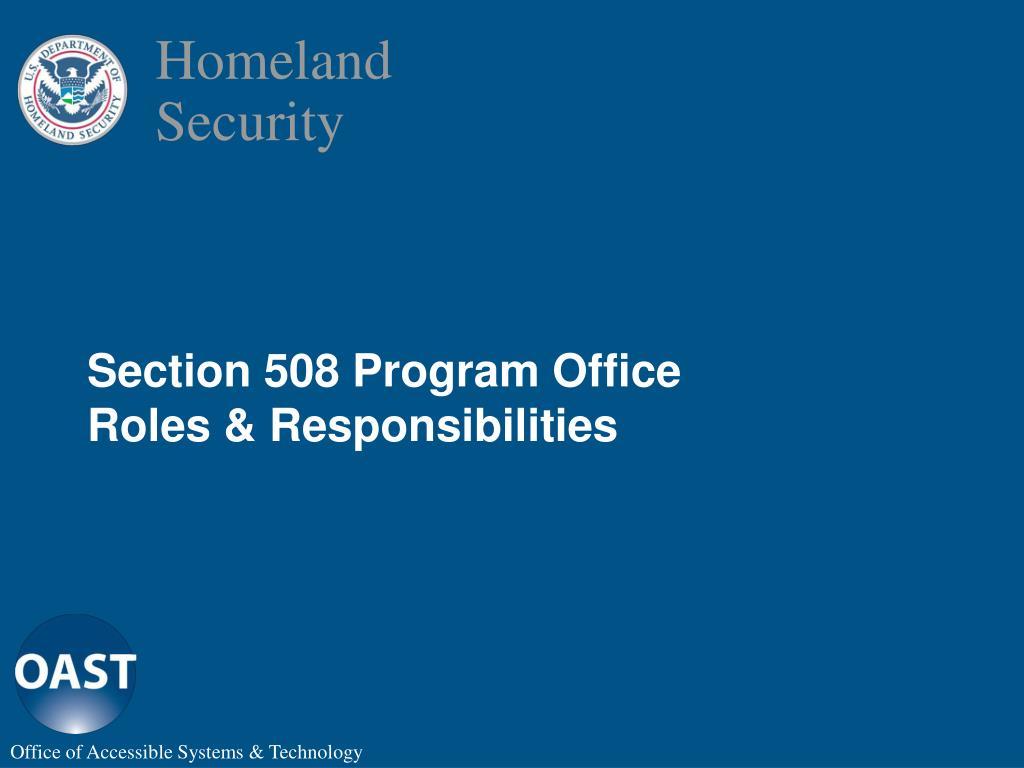 Section 508 Program Office