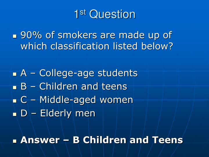 1 st question