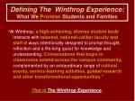 defining the winthrop experience what we promise students and families11
