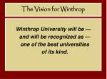 the vision for winthrop