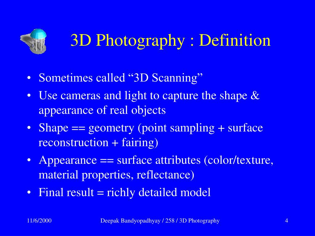 3D Photography : Definition