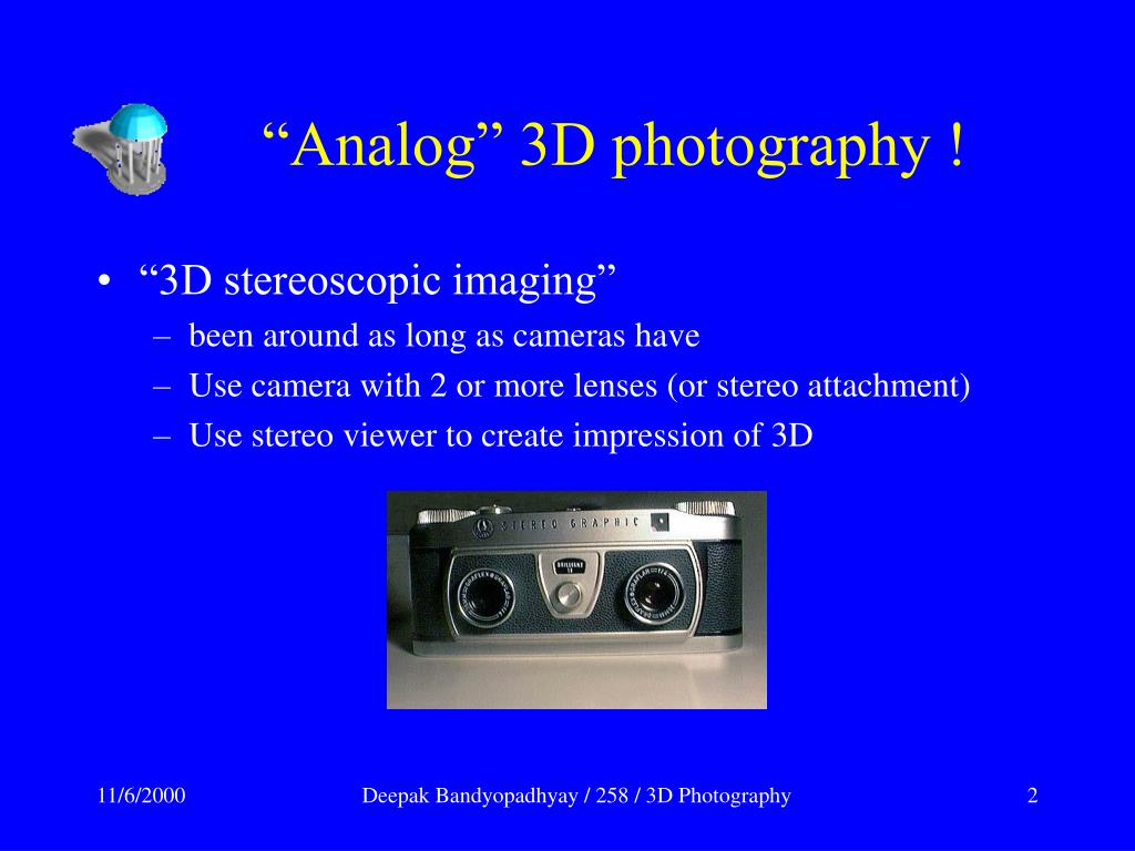 """Analog"" 3D photography !"