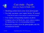 case study fa ade debevec taylor malik 1996