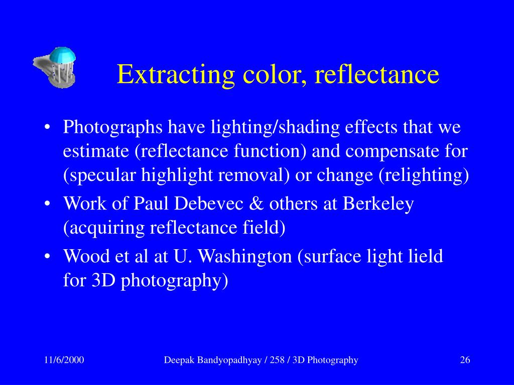 Extracting color, reflectance