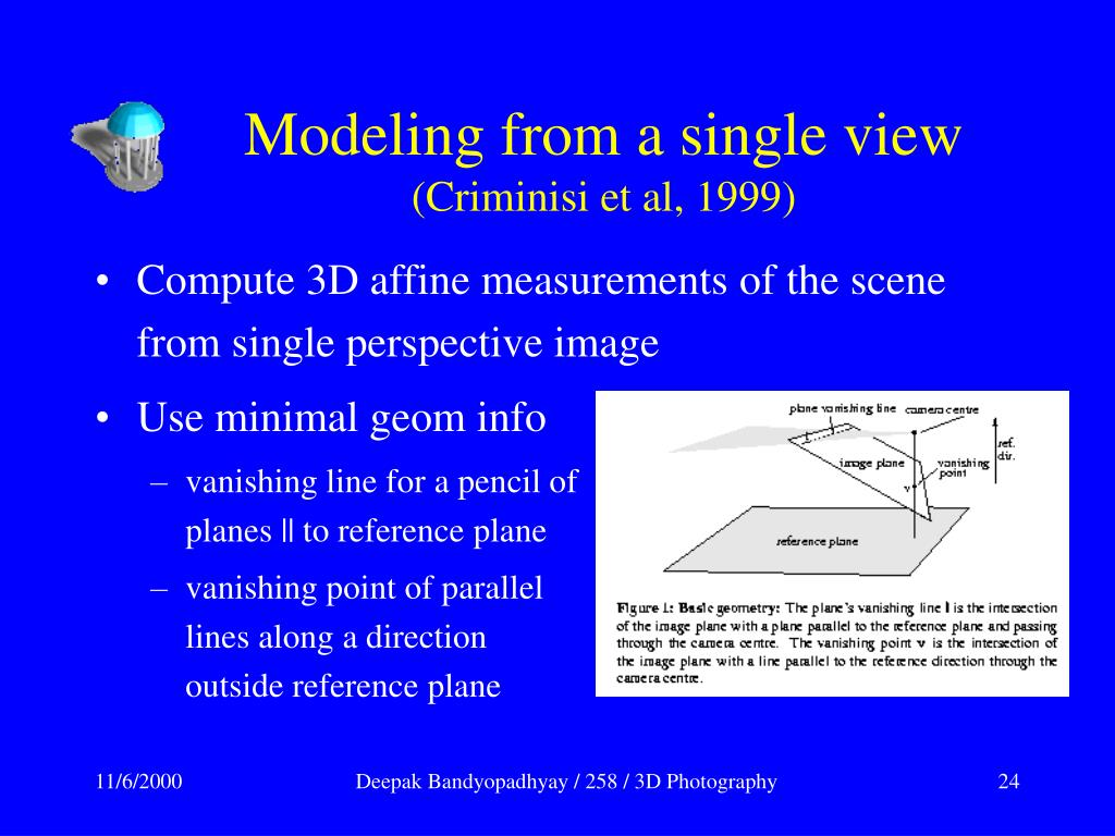 Modeling from a single view