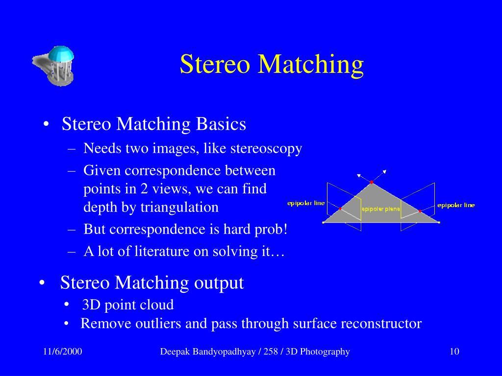 Stereo Matching