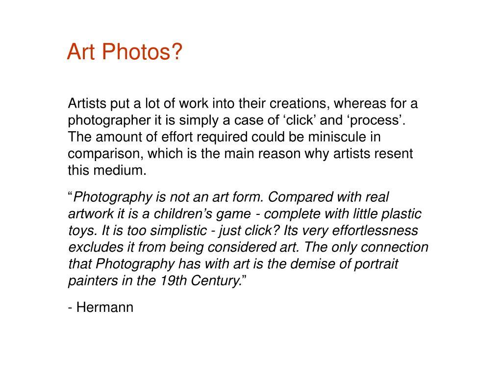 Art Photos?