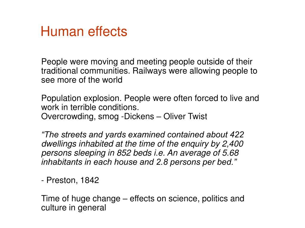 Human effects