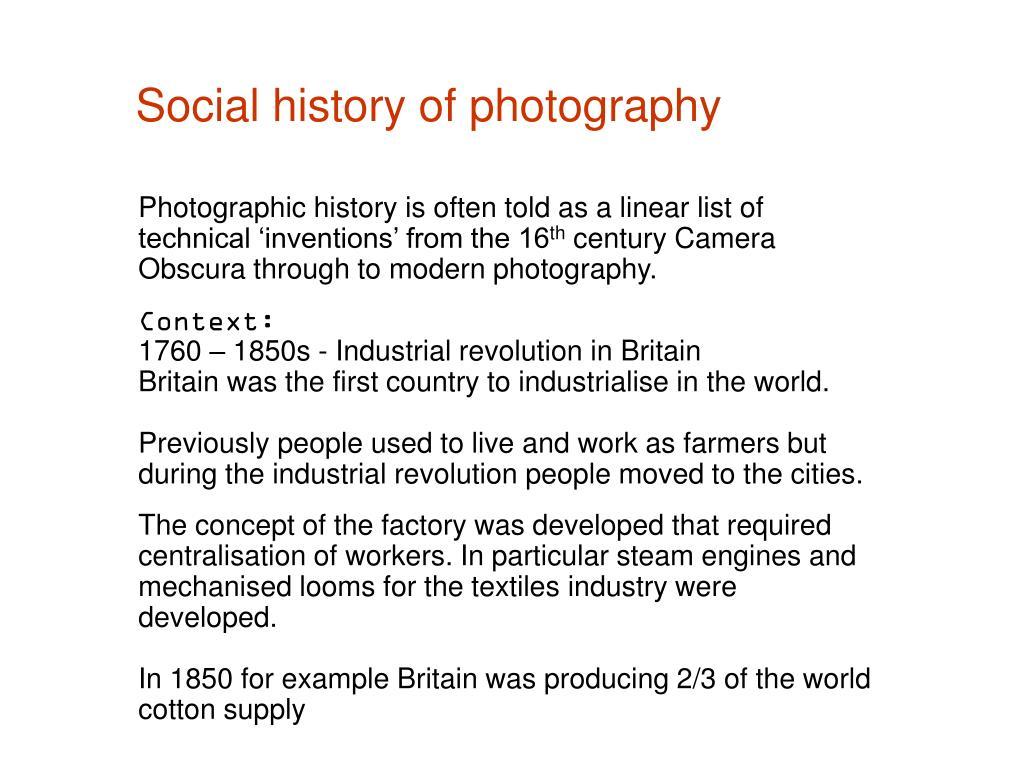 Social history of photography