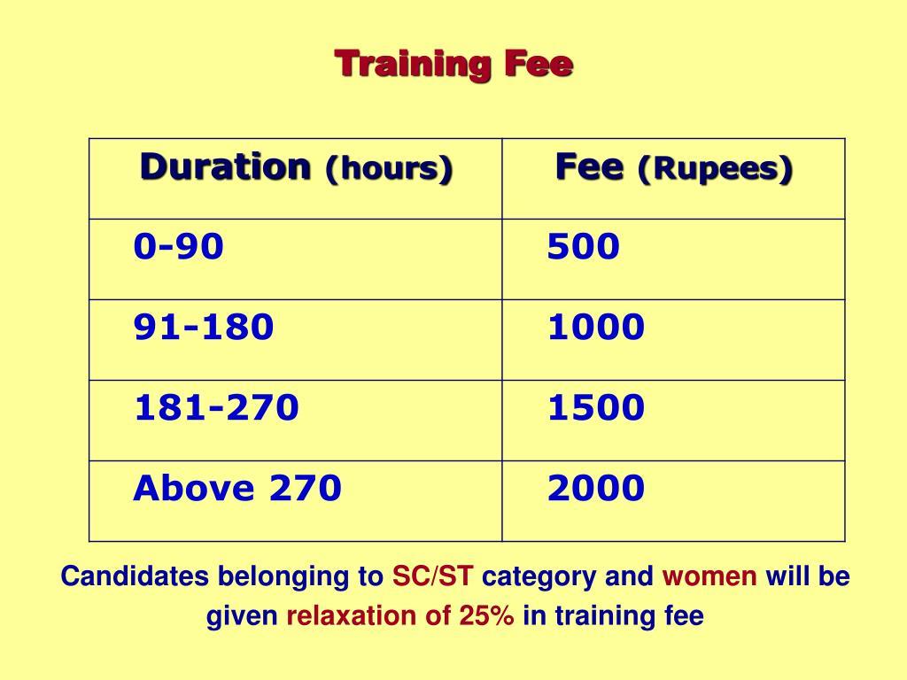 Training Fee