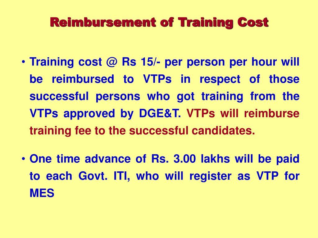 Reimbursement of Training Cost