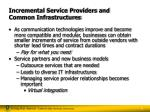 incremental service providers and common infrastructures