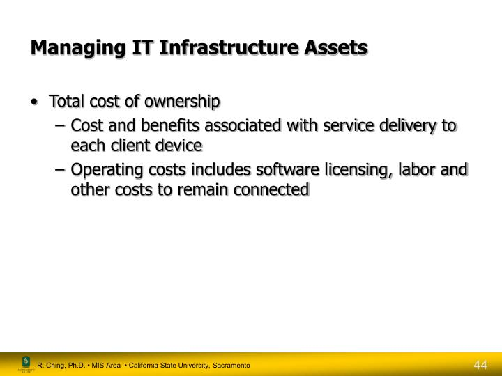 Managing IT Infrastructure Assets