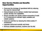 new service models and benefits opportunities