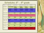 schedules 6 th 8 th grade