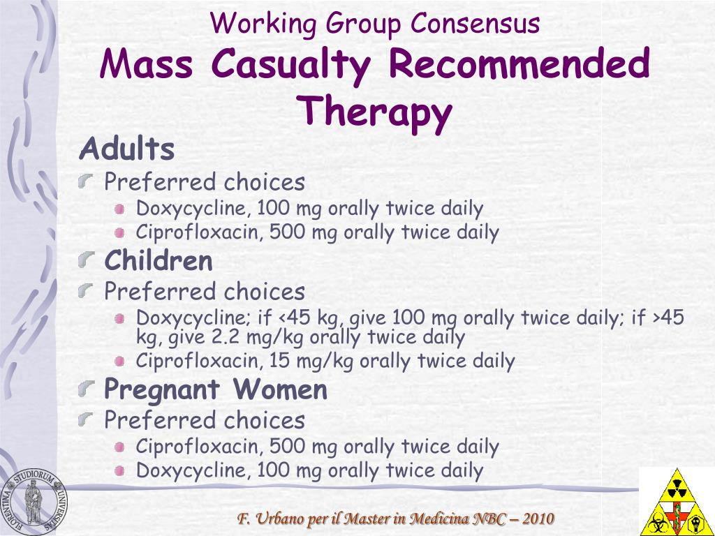 Working Group Consensus