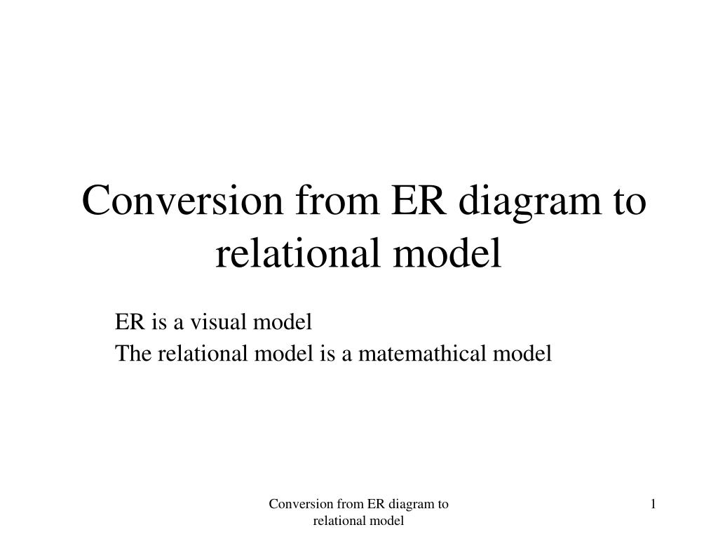Conversion from ER diagram to relational model