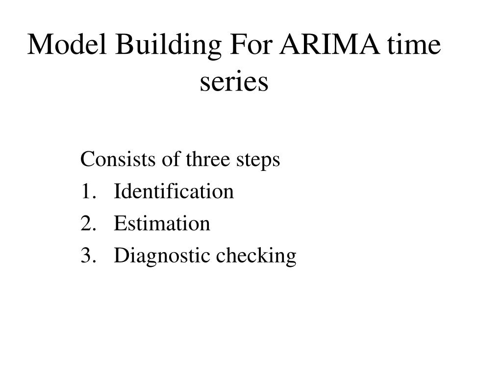 model building for arima time series l.