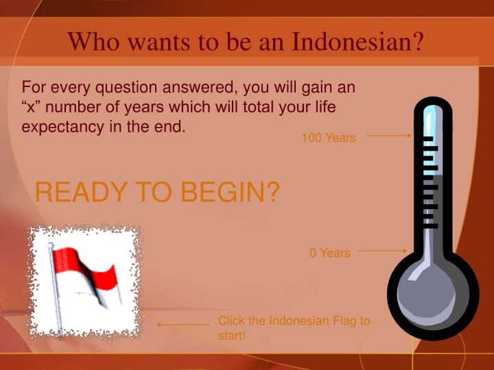 Who wants to be an indonesian