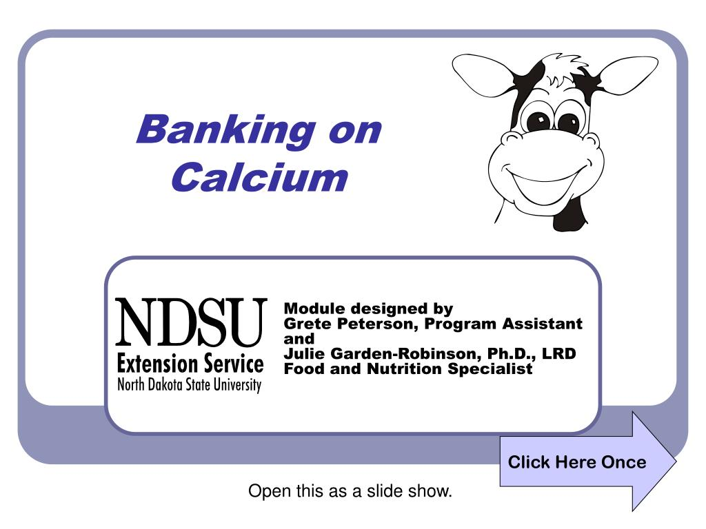banking on calcium l.
