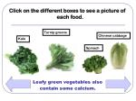 leafy green vegetables also contain some calcium