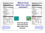 which food label has more calcium34