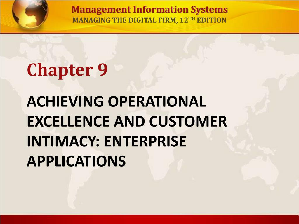 achieving operational excellence and customer intimacy enterprise applications l.