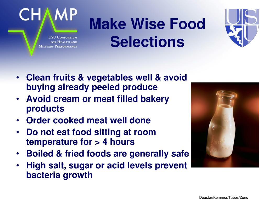 Make Wise Food Selections