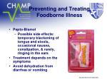 preventing and treating foodborne illness