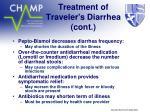 treatment of traveler s diarrhea cont
