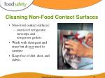 cleaning non food contact surfaces