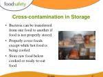 cross contamination in storage