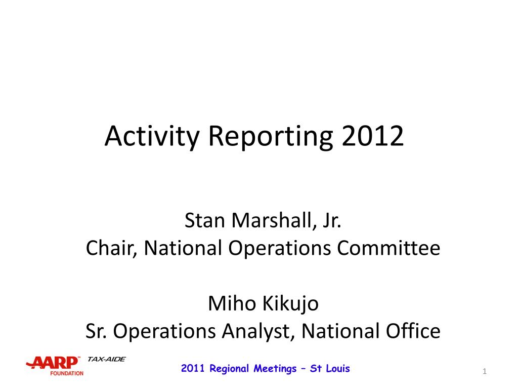 Activity Reporting 2012