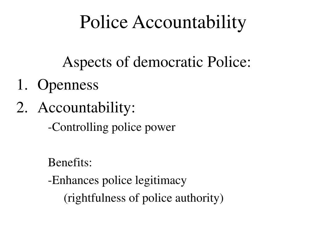 police accountability l.