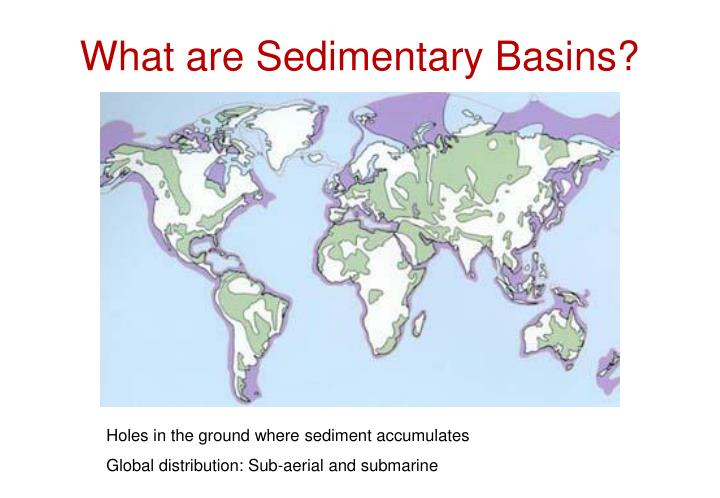 What are sedimentary basins