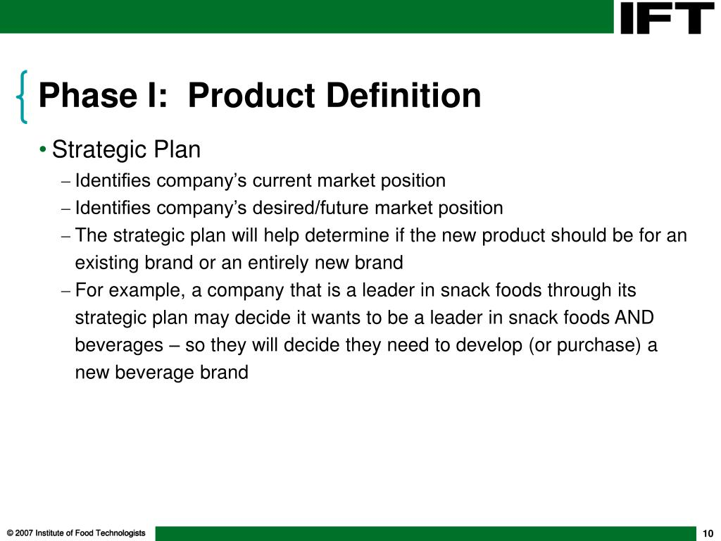 Phase I:  Product Definition