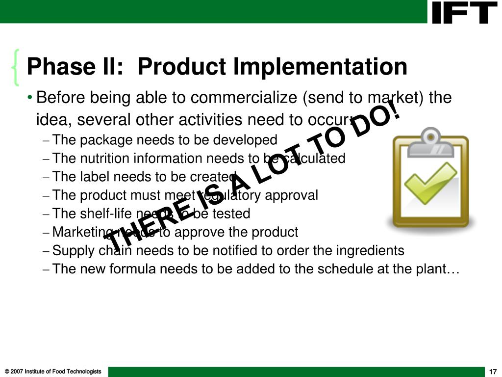 Phase II:  Product Implementation