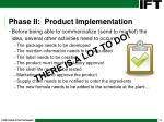 phase ii product implementation17