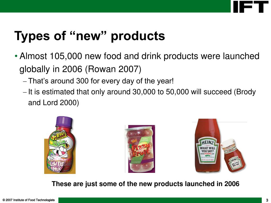"""Types of """"new"""" products"""