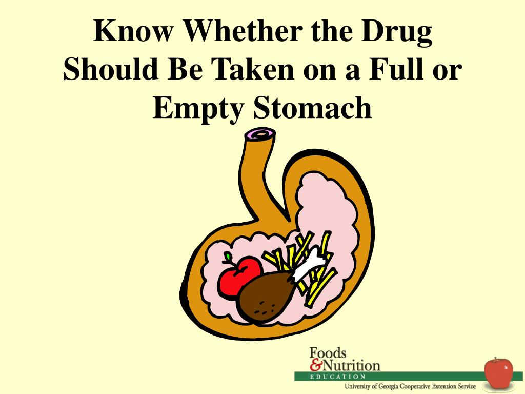 Know Whether the Drug Should Be Taken on a Full or Empty Stomach