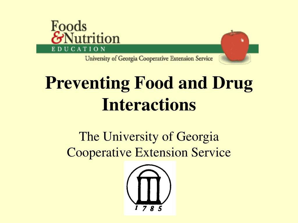 preventing food and drug interactions l.