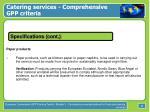 catering services comprehensive gpp criteria32