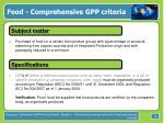 food comprehensive gpp criteria12