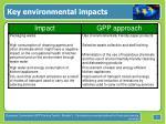 key environmental impacts5