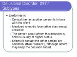 delusional disorder 297 1 subtypes