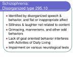 schizophrenia disorganized type 295 10