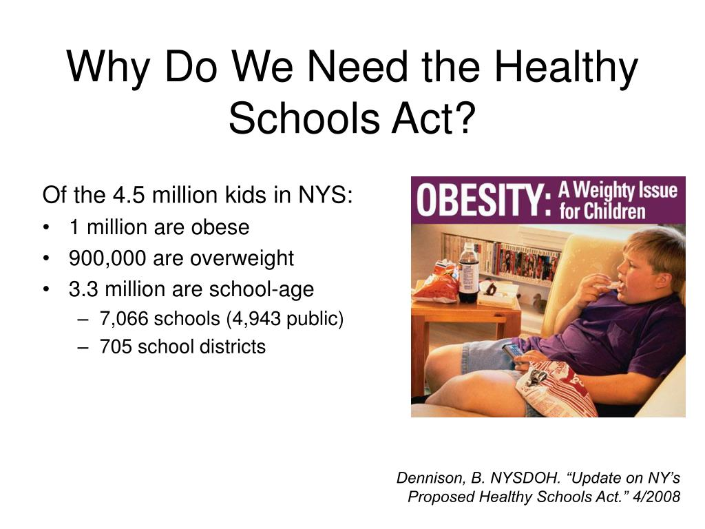 Why Do We Need the Healthy Schools Act?